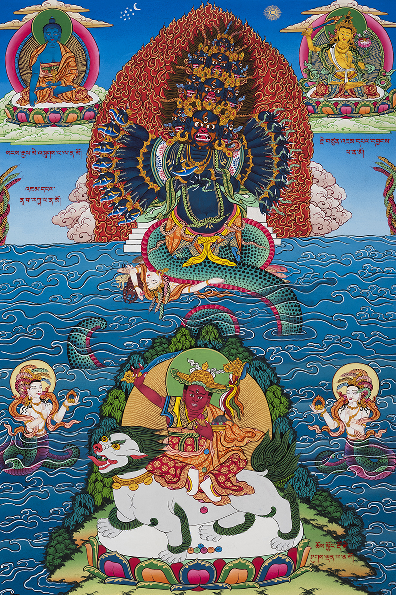 Manjushri Nagarakshasa – The Naga Deity | Buddhist art, Buddhism art, Tibet  art