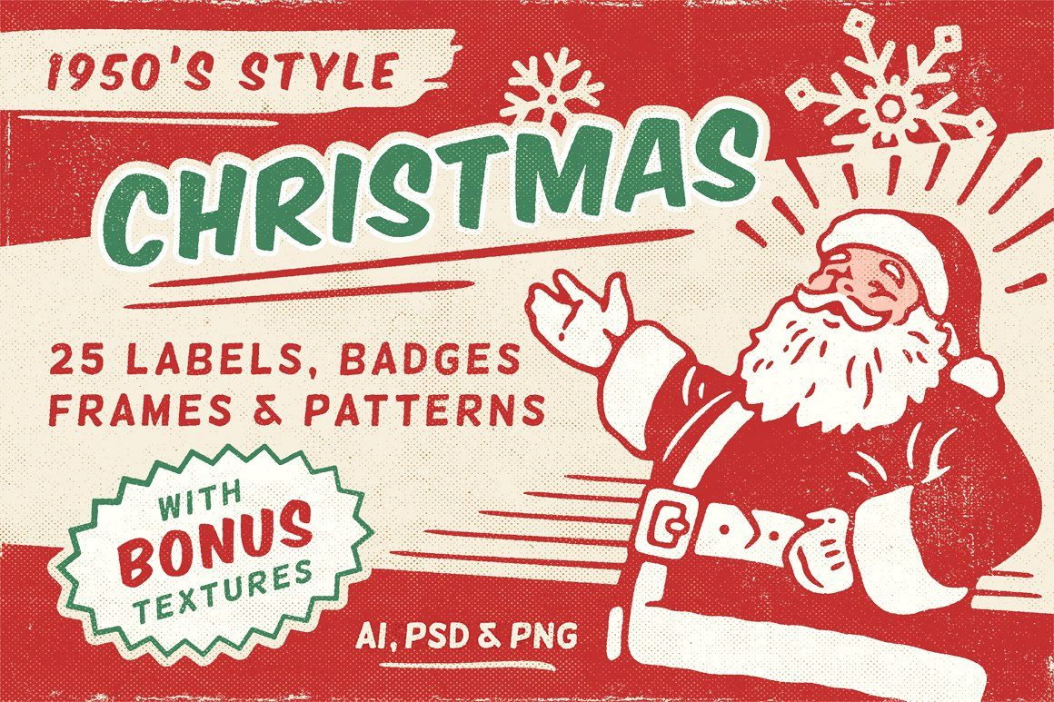 Retro Christmas Labels Vol 1 Website Templates Website Design Web Design Webelements Web