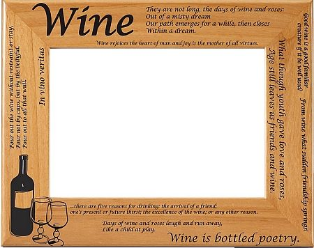 wine quotes picture frame wine quotes photo frame - Wine Picture Frames
