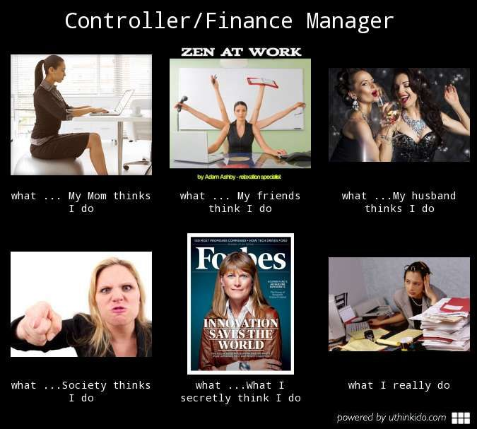 The life of a financial Manager/Controller...