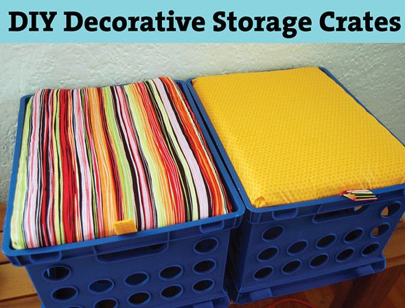 DIY Decorative Storage Crates From Mama Say What?