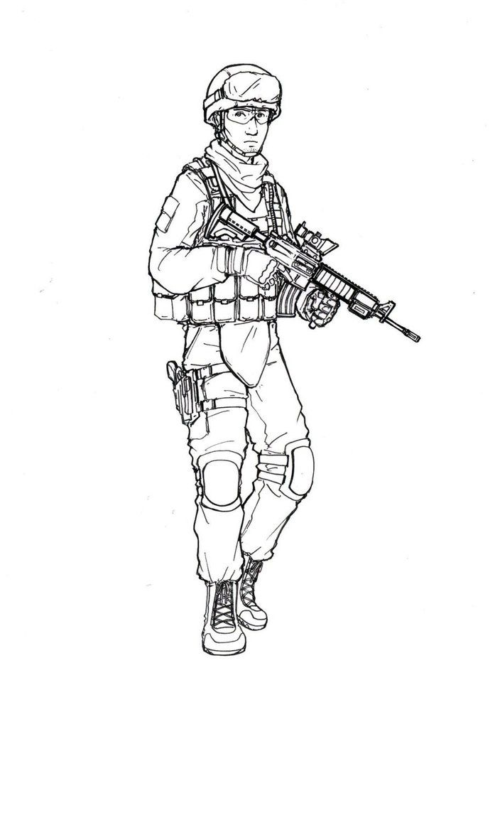 Us marine by thomchen114 sketches comic reference for Usmc coloring pages