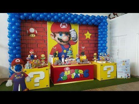 Fiesta De Mario Bros 2017 Mesa De Dulces Decoracion Adornos Ideas Partyboy Youtube Mario Bros Birthday Mario Bros Party Super Mario Bros Party