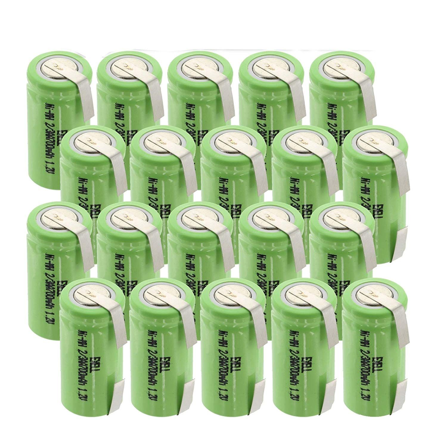 20x Exell 1 2v 2 3aa Size 700mah Nimh Rechargeable Batteries W Tabs Use With High Power Static Applications Telecoms Ups And Smart Grid Rechargeable Batteries