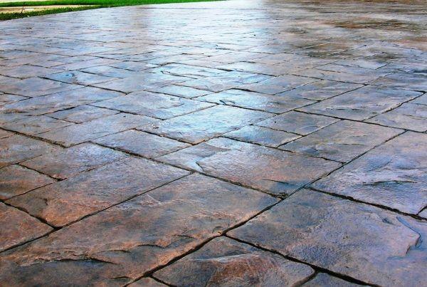 ashlar slate under foot pinterest decorative concrete