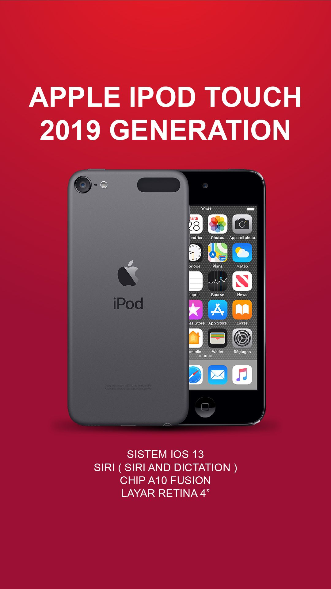 APPLE iPod Touch 128GB 7th 2019 Generation Hadir dengan