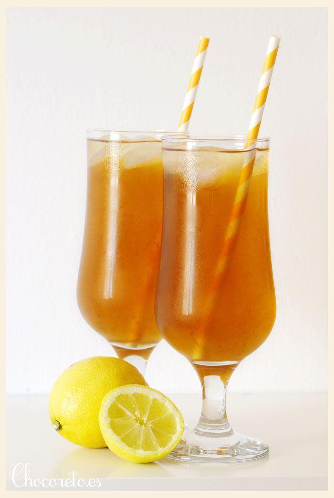 Te Helado Al Limón Lemon Iced Tea Receta Recetas De Té Helado Receta De Limonada Agua De Frutas Recetas