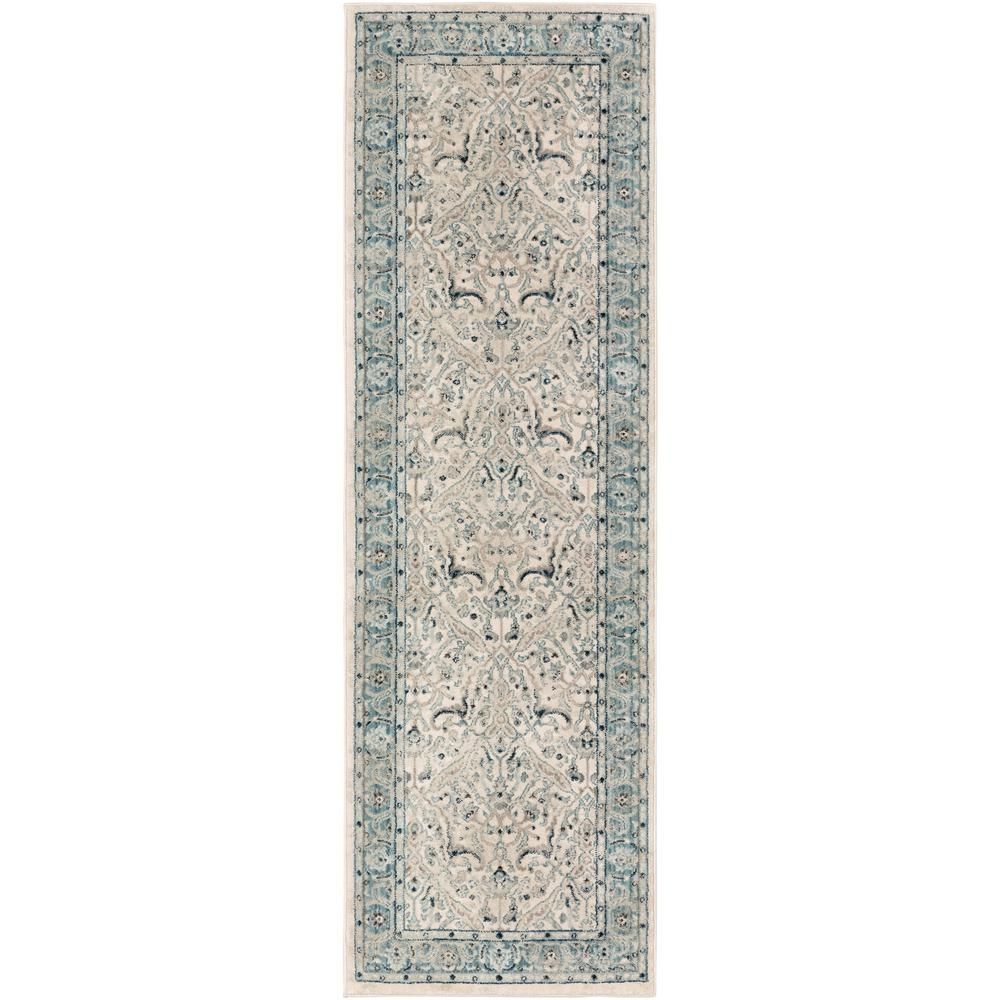 Artistic Weavers Cairo Teal Grey 2 Ft 6 In X 7 Ft 10 In Oriental Runner Rug S00161011384 The Home Depot Oriental Runner Rug Teal And Grey Artistic Weavers