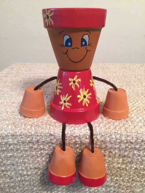 This Item Is Unavailable Etsy Clay Pot Crafts Clay Pot Projects Clay Pot People