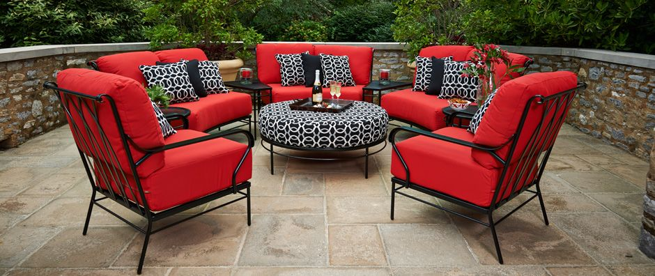Meadowcraft Is A Leading Domestic Manufacturer Of Quality Wrought Iron Patio Furniture Cushions