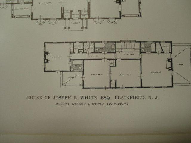 House of Joseph B. White, Plainfield, NJ, 1915, Wilder and White