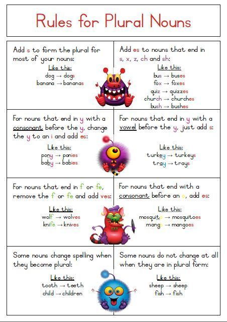 singular and plural rules