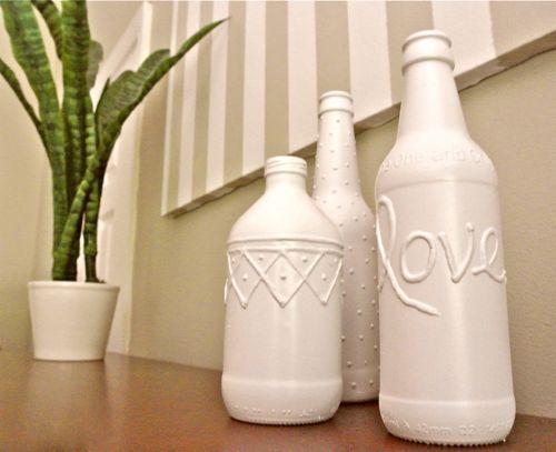 5 Minutes Or Less Beer Bottle Vases Beer Bottle Crafts