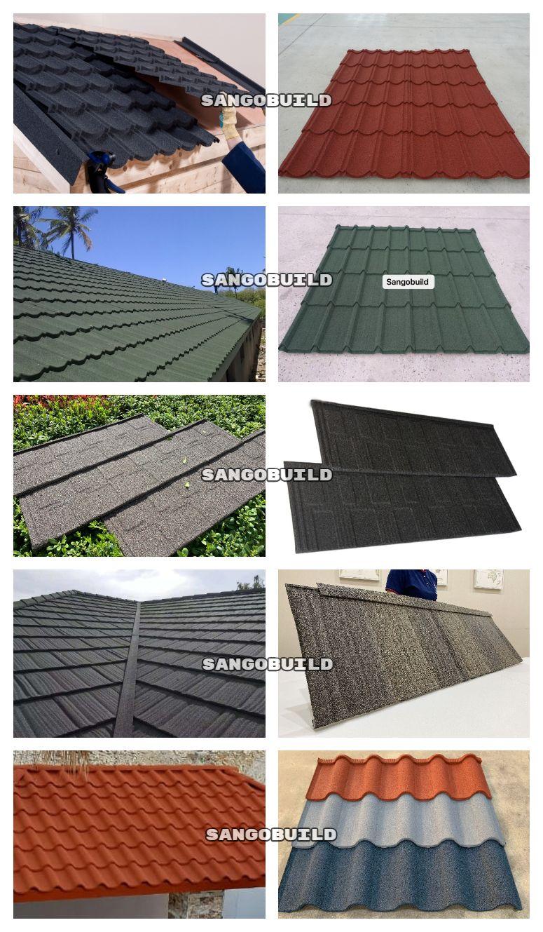Pin On Sangobuild Stone Coated Metal Roofing Sheet