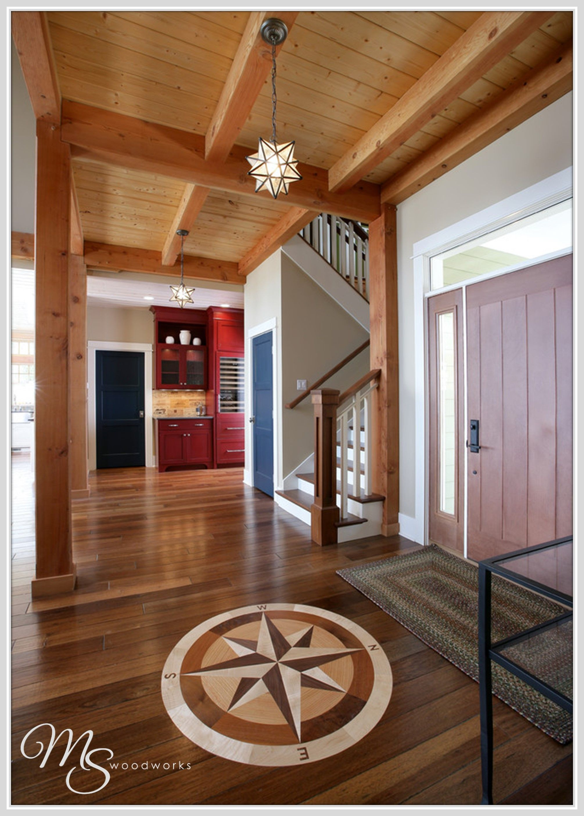 Trying To Remodel A Little Why Not Remodel A Lot With Custom Wood Flooring Ceilings Doors And Or Cabinets We Can House Flooring Floor Medallion Flooring