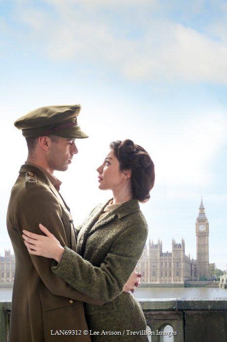 Lee Avison 1940s couple london england