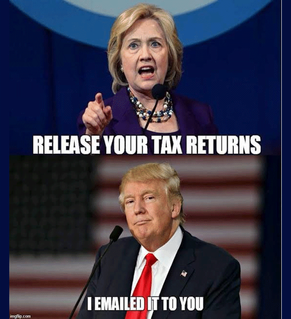 Trump Taxes Politico: Donald Trump Tax Returns Funny Meme