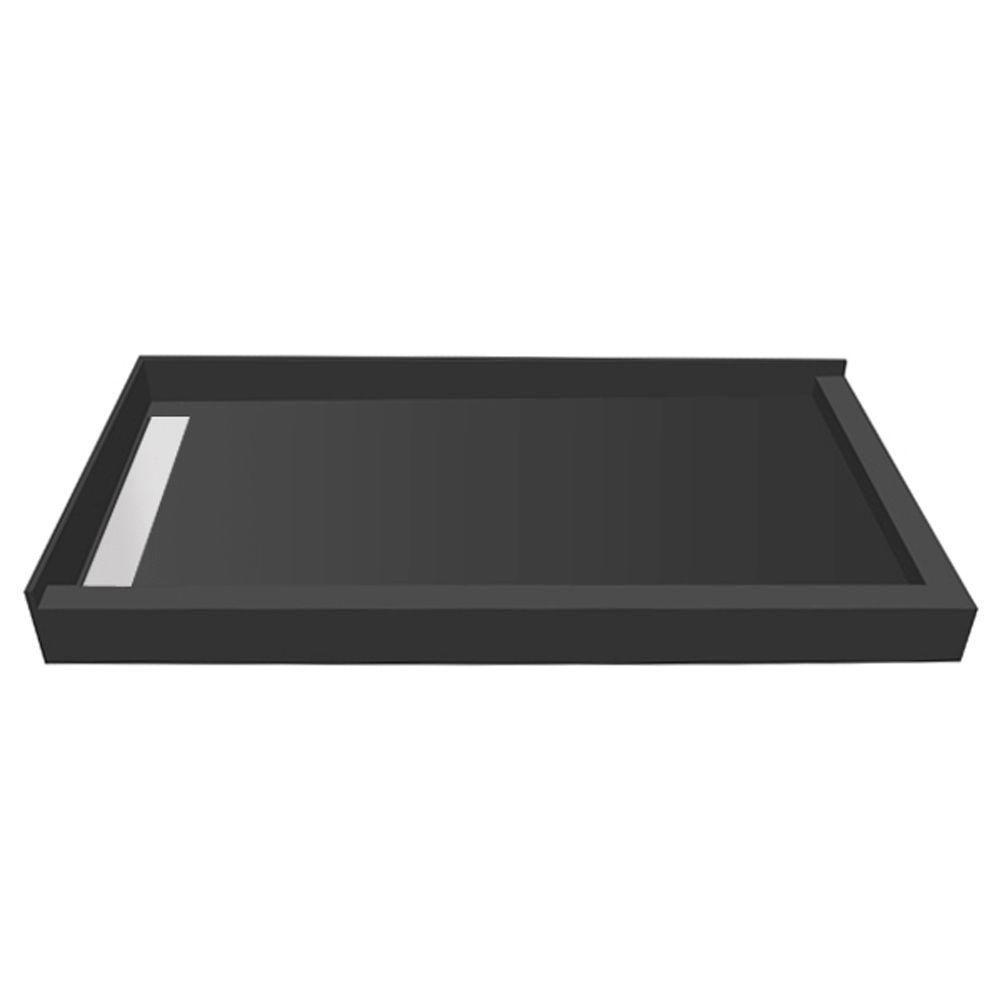Tile Redi 36 In X 36 In Double Threshold Shower Base With Left