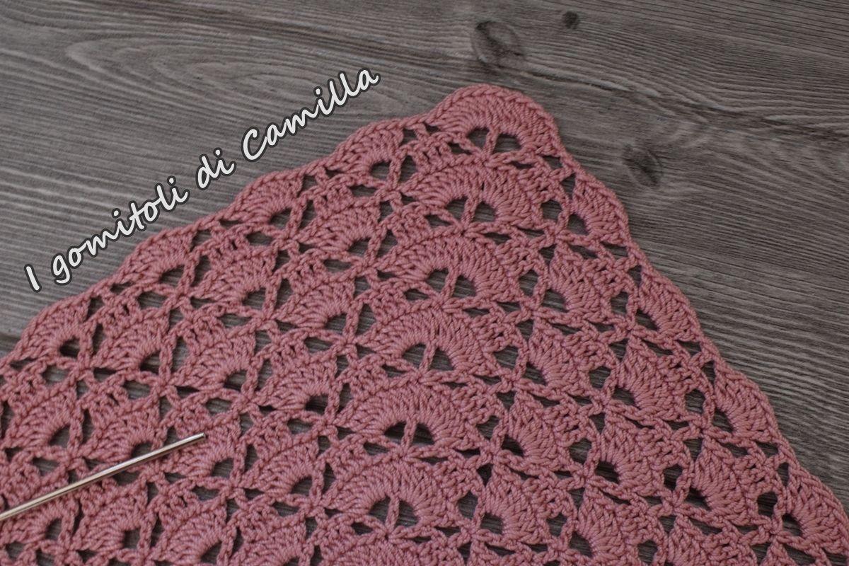 aspetto elegante più amato design elegante Scialle a uncinetto con ventaglietti: i tutorial di Camilla ...