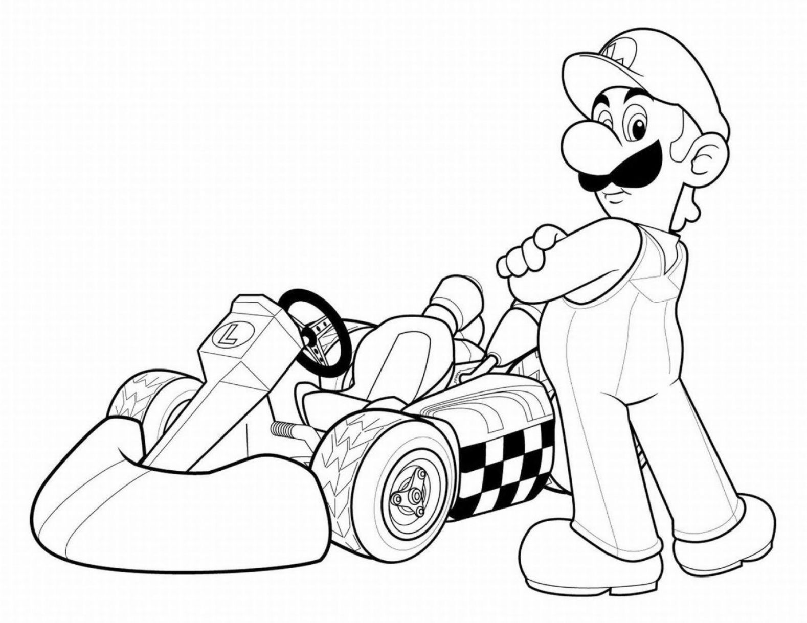 Coloring Sheet Coloring Pages For Little Man Mario Coloring