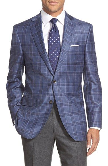 David Donahue 'Connor' Classic Fit Plaid Wool Sport Coat available at #Nordstrom