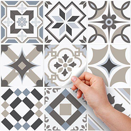 81 Carrelage Adhesif 10x10 Cm Ps00089 Braga Adhesive Decorative A Carreaux Pour Salle De B Sticker Salle De Bain Carreaux Salle De Bain Carrelage Adhesif