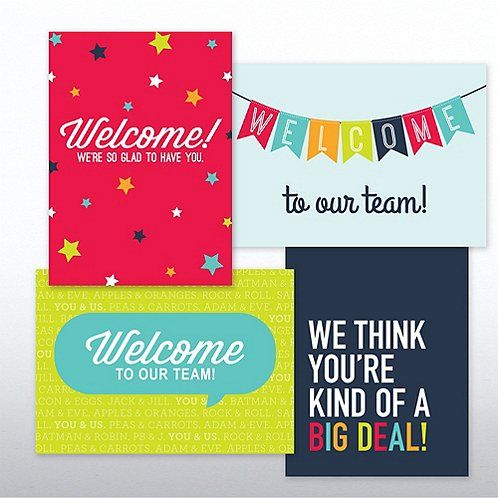 On Boarding Welcome Card Set Onboarding Essentials Welcome card