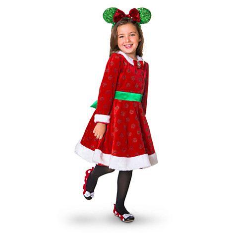 Minnie Mouse Christmas Dress.Minnie Mouse Holiday Dress For Girls I Think Rosalie