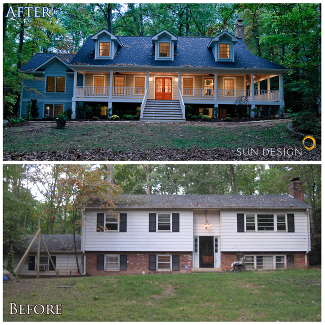 This Home Was Transformed From A Split Foyer Into A Colonial By Adding An Addition Onto The