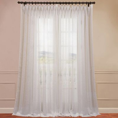 Double Wide Sheer Single Curtain Panel