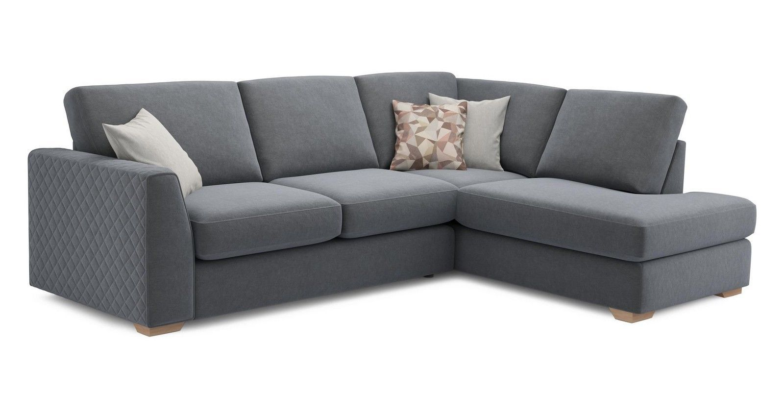 Garden Furniture Corner Sofa Ebay Dfs Eleanor Graphite Fabric Foam Left Arm Facing Open End Corner
