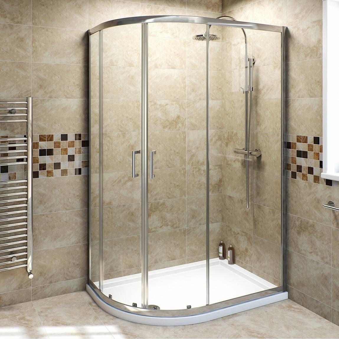 Bathroom Lights Victoria Plumb v6 6mm quadrant offset shower enclosure 1000 x 800 - victoria
