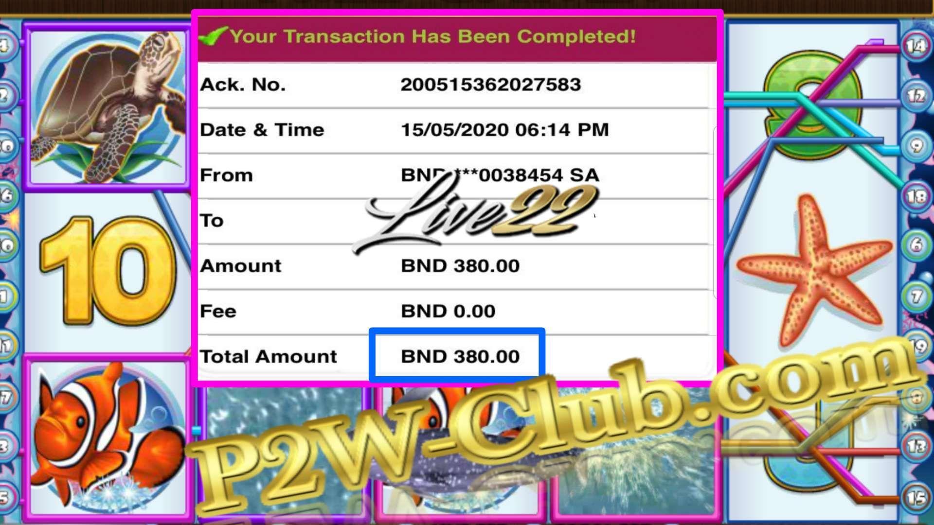 Brunei Live22 Slot Game Online Casino BigWin Jackpot | P2W-Club.com