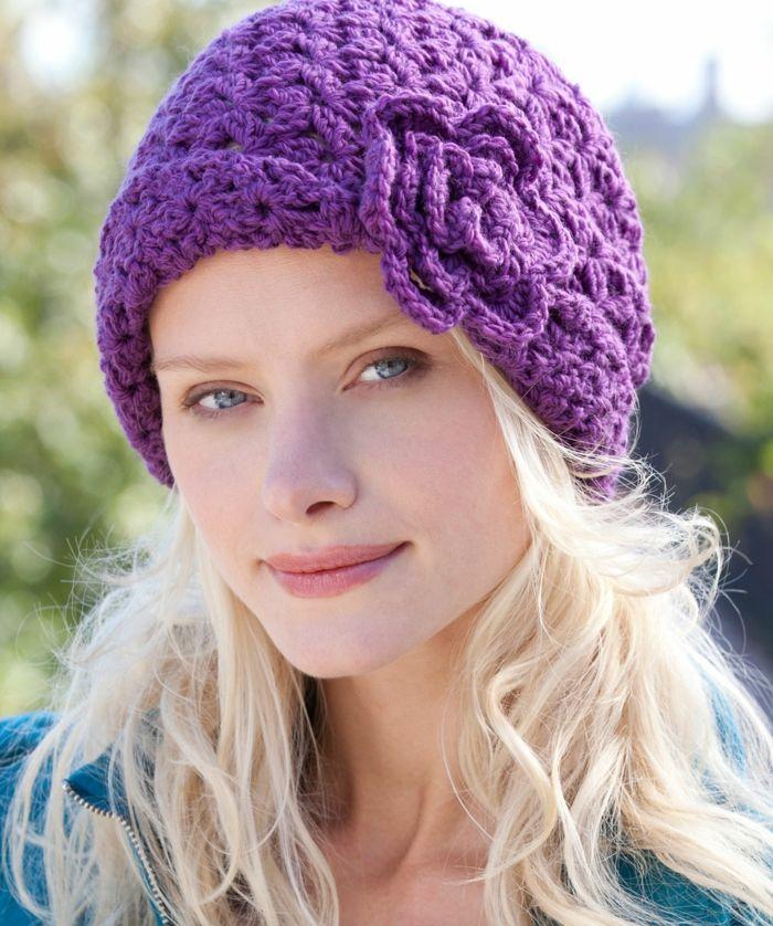 Häkelmuster Mütze in jedem Stil und für jeden Geschmack | Lila ...