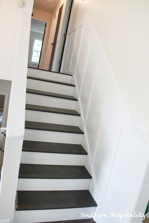 Best Update Old Stairs With Painted Pine Treads And New Risers 400 x 300