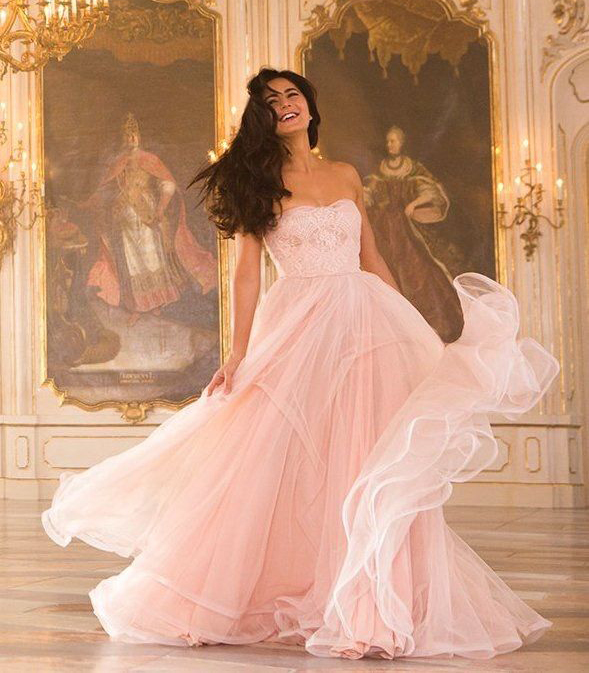 How To Get A Gown Like Katrina Kaif S Dil Diyan Gallan Pick For Your Wedding Vogue India Katrina Kaif Dresses Katrina Kaif Photo Gowns