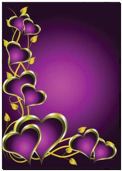 Poster - lila, und, gold, herzen, valentines, hintergrund k5094329 - kunst fotodrucke, drucke auf leinwand, auch aufgezogen auf keilrahmen, wanddekoration, wandbilder - k5094329.eps