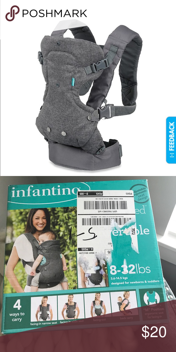 a6f92201309 Infantino 4 in 1 Convertible Baby Carrier Never used. Still in original  box. 4 ways to carry. Neutral Gray color. infantino Other