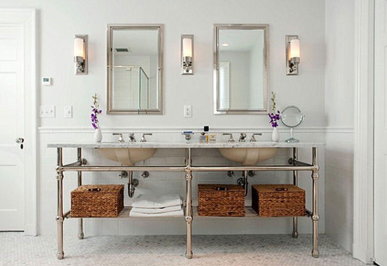Bathroom lamp design ideas elegant bathroom lighting ideas with bathroom lamp design ideas elegant bathroom lighting ideas with double rectangular mirror and luxurious frosted lamp arubaitofo Images