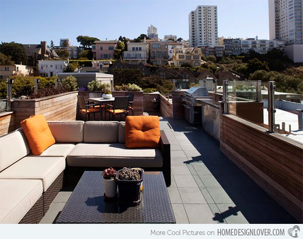 15 Modern And Contemporary Rooftop Terrace Designs Home Design Lover Terrace Design Rooftop Terrace Design Contemporary Patio