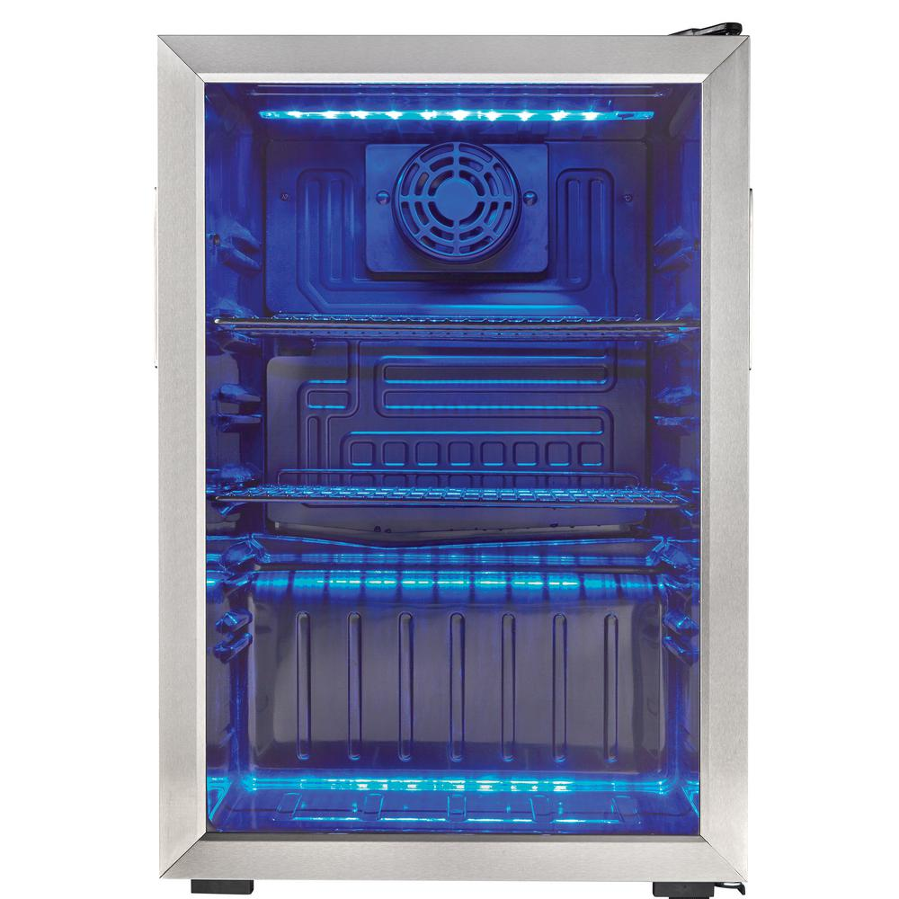 Danby 17 5 In 95 12 Oz Can 2 6 Cu Ft Free Standing Cooler Dbc026a1bssdb Beverage Center Glass Showcase Cool Things To Buy