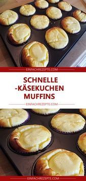 Fast cheesecake muffins   – Backen süß – #Backen #cheesecake #fast #muffins #s…
