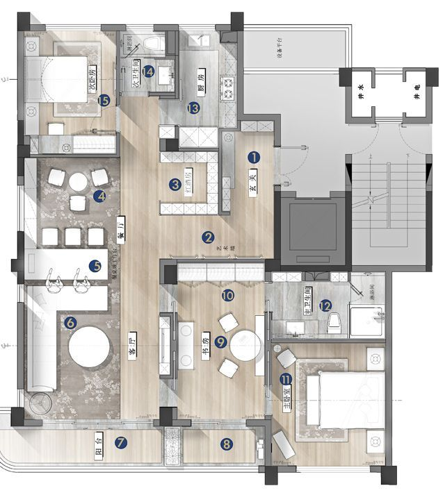 Interior Design Plan, Architectural