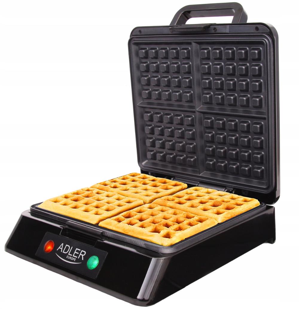 Gofrownica 1500w Na 4 Duze Chrupiace Gofry Mocna Waffle Iron Waffles Kitchen Appliances