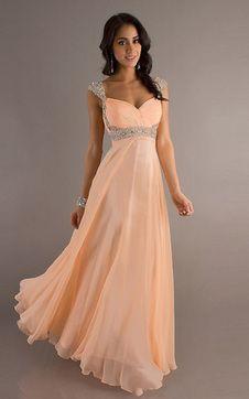 Vestiti Sera Eleganti.Immagine 1 Abiti Da Sera Elegante Con Perline Omerale In Chiffon