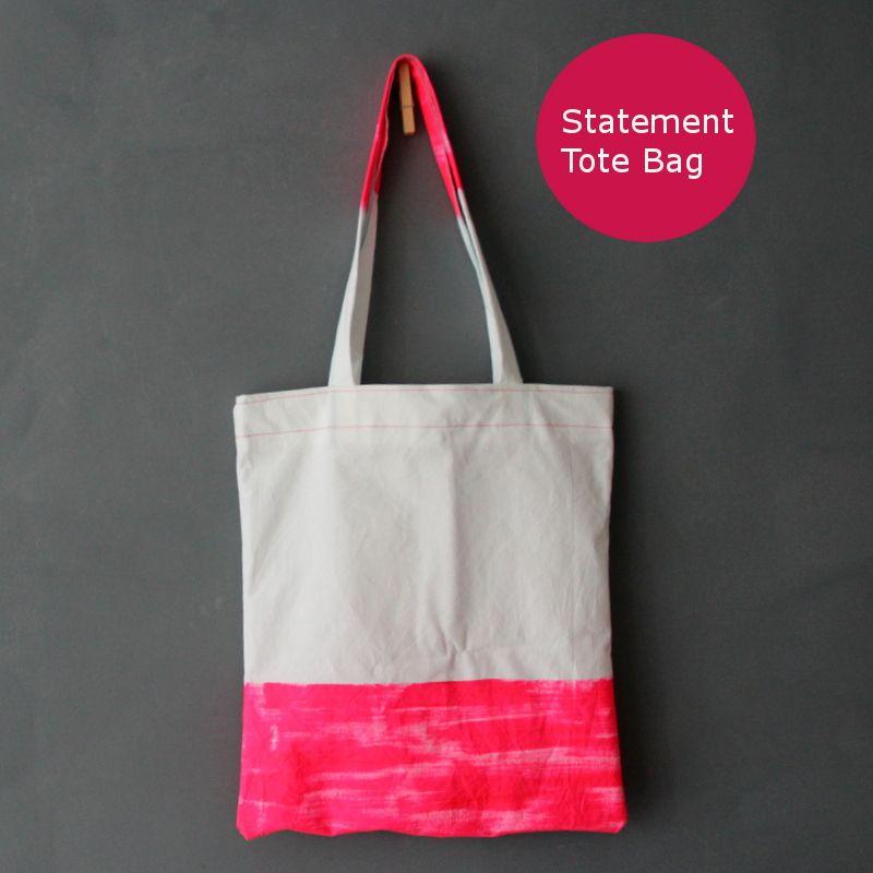 Statement Tasche {DIY} ::: Statement Tote Bag tutorial - neuer Stoff ...
