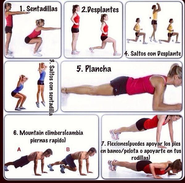 Ejercicios fisicos caseros para bajar de peso