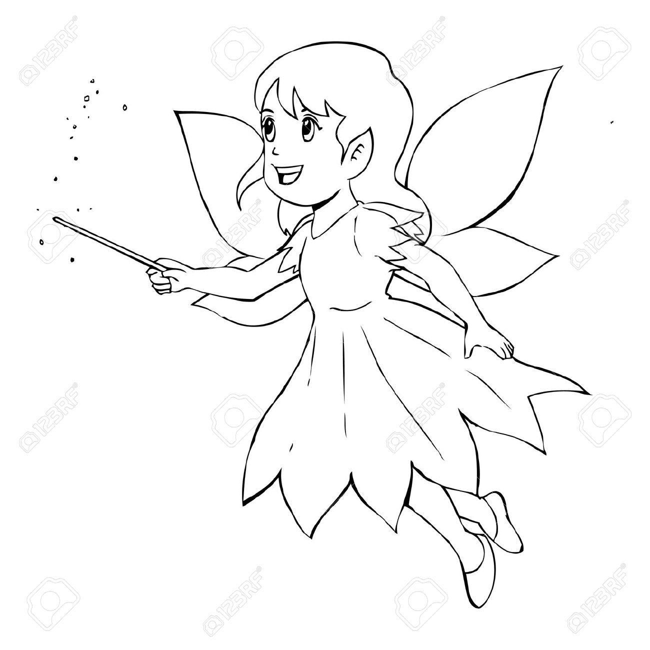 Simple Illustration Of Angels