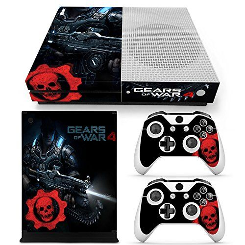 Xbox One S Console Skin Decal Sticker Gears Of War 4 2