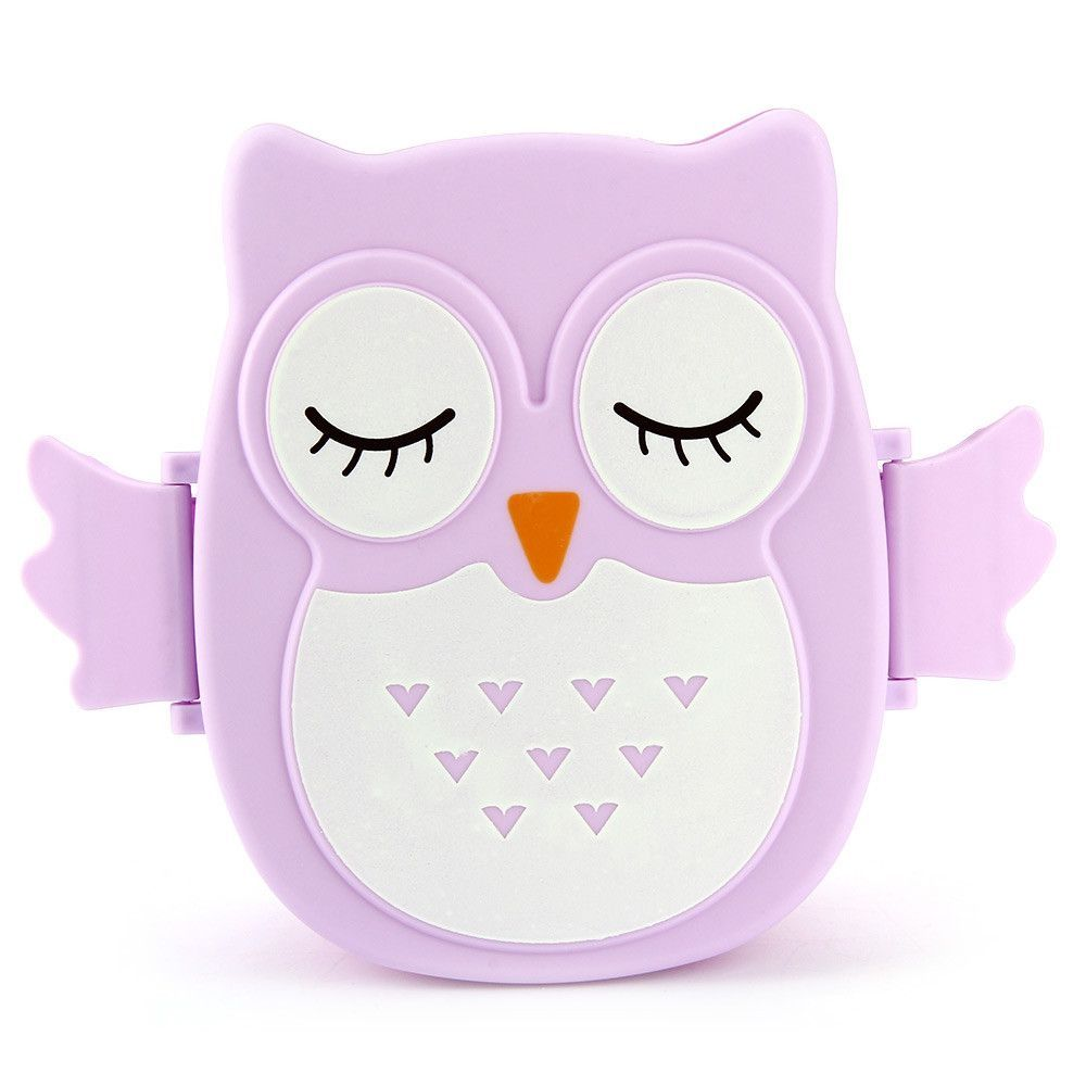Cartoon Owl 1050ml Lunch Box Microwave Bento Box Food Container